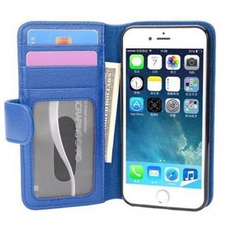 Cadorabo Hülle für Apple iPhone 7 / iPhone 7S / iPhone 8 in NEPTUN BLAU - Handyhülle mit Magnetverschluss und 3 Kartenfächern - Case Cover Schutzhülle Etui Tasche Book Klapp Style