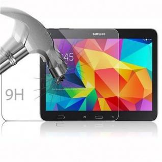 Cadorabo Panzer Folie für Samsung Galaxy Tab 4 (10, 1 Zoll) - Schutzfolie in KRISTALL KLAR - Gehärtetes (Tempered) Display-Schutzglas in 9H Härte mit 3D Touch Kompatibilität - Vorschau 3