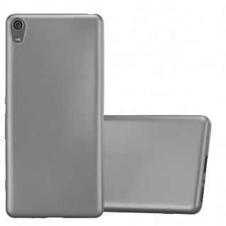 Cadorabo Hülle für Sony Xperia XA in METALLIC GRAU - Handyhülle aus flexiblem TPU Silikon - Silikonhülle Schutzhülle Ultra Slim Soft Back Cover Case Bumper