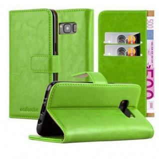 Cadorabo Hülle für Samsung Galaxy S8 in GRAS GRÜN ? Handyhülle mit Magnetverschluss, Standfunktion und Kartenfach ? Case Cover Schutzhülle Etui Tasche Book Klapp Style