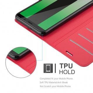 Cadorabo Hülle für Huawei MATE 10 LITE in KARMIN ROT - Handyhülle mit Magnetverschluss, Standfunktion und Kartenfach - Case Cover Schutzhülle Etui Tasche Book Klapp Style - Vorschau 3