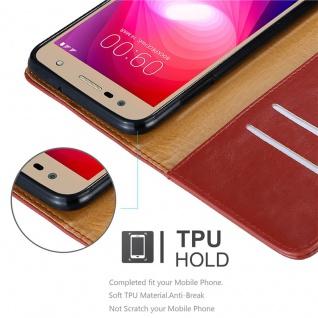 Cadorabo Hülle für LG X Power 2 in WEIN ROT - Handyhülle mit Magnetverschluss, Standfunktion und Kartenfach - Case Cover Schutzhülle Etui Tasche Book Klapp Style - Vorschau 3