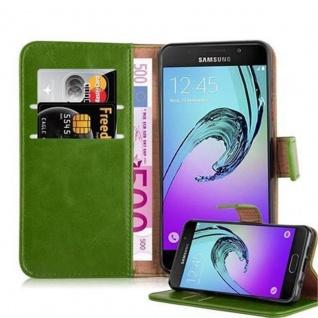 Cadorabo Hülle für Samsung Galaxy A3 2016 in GRAS GRÜN - Handyhülle mit Magnetverschluss, Standfunktion und Kartenfach - Case Cover Schutzhülle Etui Tasche Book Klapp Style