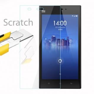 Cadorabo Panzer Folie für Xiaomi Mi 3 - Schutzfolie in KRISTALL KLAR - Gehärtetes (Tempered) Display-Schutzglas in 9H Härte mit 3D Touch Kompatibilität - Vorschau 2