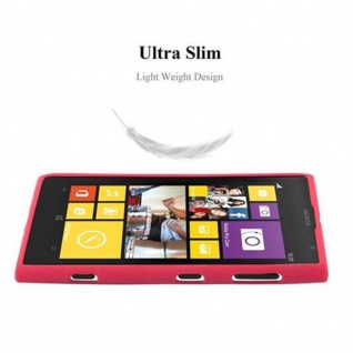 Cadorabo Hülle für Nokia Lumia 1020 in FROST ROT - Handyhülle aus flexiblem TPU Silikon - Silikonhülle Schutzhülle Ultra Slim Soft Back Cover Case Bumper - Vorschau 4