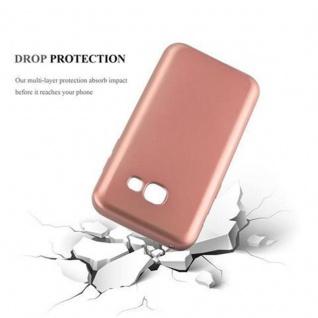 Cadorabo Hülle für Samsung Galaxy A3 2017 in METALLIC ROSE GOLD - Handyhülle aus flexiblem TPU Silikon - Silikonhülle Schutzhülle Ultra Slim Soft Back Cover Case Bumper - Vorschau 3