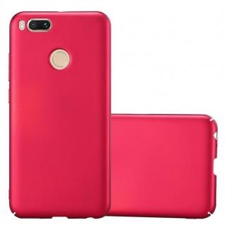 Cadorabo Hülle für Xiaomi Mi A1 / 5X in METALL ROT Hardcase Handyhülle aus Plastik gegen Kratzer und Stöße Schutzhülle Bumper Ultra Slim Back Case Hard Cover