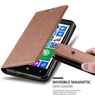 Cadorabo Hülle für Nokia Lumia 625 in CAPPUCCINO BRAUN Handyhülle mit Magnetverschluss, Standfunktion und Kartenfach Case Cover Schutzhülle Etui Tasche Book Klapp Style