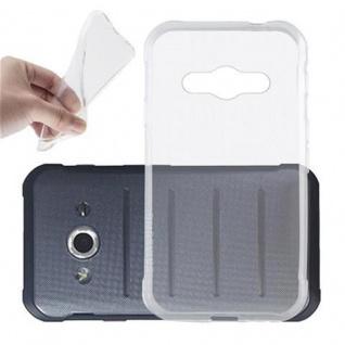 Cadorabo Hülle für Samsung Galaxy XCOVER 3 in VOLL TRANSPARENT - Handyhülle aus flexiblem TPU Silikon - Silikonhülle Schutzhülle Ultra Slim Soft Back Cover Case Bumper