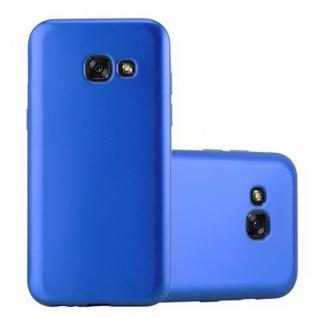Cadorabo Hülle für Samsung Galaxy A3 2017 in METALLIC BLAU - Handyhülle aus flexiblem TPU Silikon - Silikonhülle Schutzhülle Ultra Slim Soft Back Cover Case Bumper