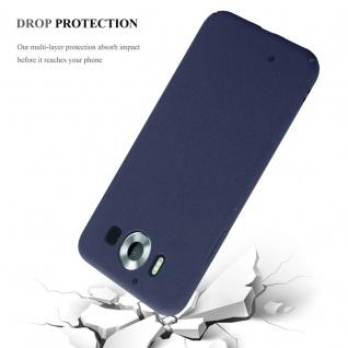Cadorabo Hülle für Nokia Lumia 950 in FROSTY BLAU - Hardcase Handyhülle aus Plastik gegen Kratzer und Stöße - Schutzhülle Bumper Ultra Slim Back Case Hard Cover - Vorschau 4