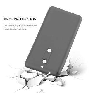 Cadorabo Hülle für Nokia 5 2017 in METALLIC GRAU - Handyhülle aus flexiblem TPU Silikon - Silikonhülle Schutzhülle Ultra Slim Soft Back Cover Case Bumper - Vorschau 3