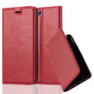 Cadorabo Hülle für Xiaomi Mi 6 in APFEL ROT Handyhülle mit Magnetverschluss, Standfunktion und Kartenfach Case Cover Schutzhülle Etui Tasche Book Klapp Style