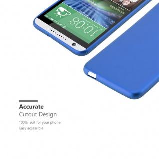 Cadorabo Hülle für HTC DESIRE 820 in METALLIC BLAU - Handyhülle aus flexiblem TPU Silikon - Silikonhülle Schutzhülle Ultra Slim Soft Back Cover Case Bumper - Vorschau 2