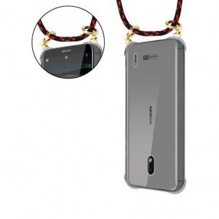 Cadorabo Handy Kette für Nokia 2.2 in SCHWARZ ROT - Silikon Necklace Umhänge Hülle mit Gold Ringen, Kordel Band Schnur und abnehmbarem Etui ? Schutzhülle - Vorschau 5