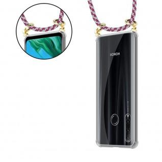 Cadorabo Handy Kette für Honor 20e in ROT WEISS Silikon Necklace Umhänge Hülle mit Gold Ringen, Kordel Band Schnur und abnehmbarem Etui Schutzhülle - Vorschau 5