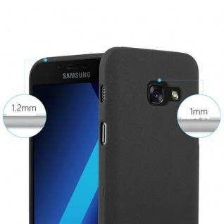 Cadorabo Hülle für Samsung Galaxy A3 2017 in FROST SCHWARZ - Handyhülle aus flexiblem TPU Silikon - Silikonhülle Schutzhülle Ultra Slim Soft Back Cover Case Bumper - Vorschau 5