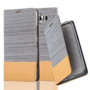 Cadorabo Hülle für Nokia Lumia 950 in HELL GRAU BRAUN - Handyhülle mit Magnetverschluss, Standfunktion und Kartenfach - Case Cover Schutzhülle Etui Tasche Book Klapp Style
