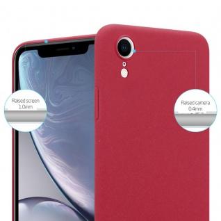 Cadorabo Hülle für Apple iPhone XR in FROSTY ROT - Hardcase Handyhülle aus Plastik gegen Kratzer und Stöße - Schutzhülle Bumper Ultra Slim Back Case Hard Cover - Vorschau 2