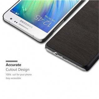 Cadorabo Hülle für Samsung Galaxy A5 2015 in WOODY SCHWARZ - Hardcase Handyhülle aus Plastik gegen Kratzer und Stöße - Schutzhülle Bumper Ultra Slim Back Case Hard Cover - Vorschau 3