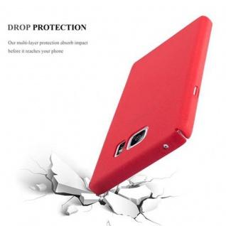 Cadorabo Hülle für Samsung Galaxy NOTE 5 in FROSTY ROT - Hardcase Handyhülle aus Plastik gegen Kratzer und Stöße - Schutzhülle Bumper Ultra Slim Back Case Hard Cover - Vorschau 4