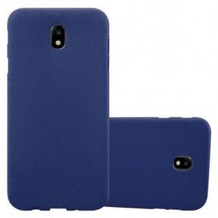 Cadorabo Hülle für Samsung Galaxy J3 2017 in FROST DUNKEL BLAU - Handyhülle aus flexiblem TPU Silikon - Silikonhülle Schutzhülle Ultra Slim Soft Back Cover Case Bumper