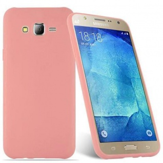 Cadorabo Hülle für Samsung Galaxy J7 2015 in CANDY ROSA - Handyhülle aus flexiblem TPU Silikon - Silikonhülle Schutzhülle Ultra Slim Soft Back Cover Case Bumper - Vorschau 2