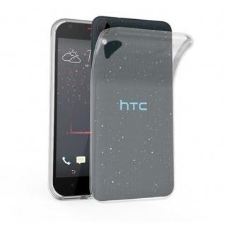 Cadorabo Hülle für HTC Desire 10 LIFESTYLE / Desire 825 in VOLL TRANSPARENT - Handyhülle aus flexiblem TPU Silikon - Silikonhülle Schutzhülle Ultra Slim Soft Back Cover Case Bumper