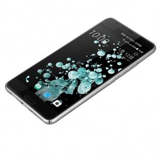Cadorabo Hülle für HTC U ULTRA in METALL SILBER - Hardcase Handyhülle aus Plastik gegen Kratzer und Stöße - Schutzhülle Bumper Ultra Slim Back Case Hard Cover - Vorschau 3
