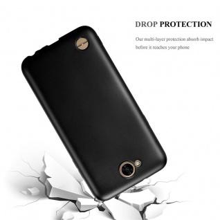 Cadorabo Hülle für LG X Power 2 in METALLIC SCHWARZ - Handyhülle aus flexiblem TPU Silikon - Silikonhülle Schutzhülle Ultra Slim Soft Back Cover Case Bumper - Vorschau 3