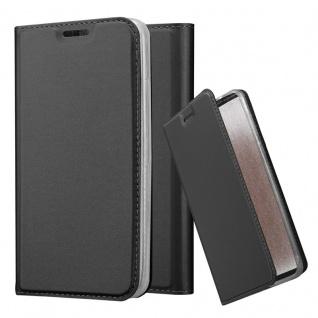 Cadorabo Hülle für LG G2 MINI in CLASSY SCHWARZ - Handyhülle mit Magnetverschluss, Standfunktion und Kartenfach - Case Cover Schutzhülle Etui Tasche Book Klapp Style