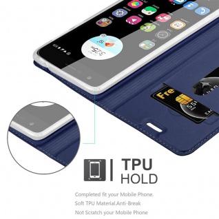 Cadorabo Hülle für ZTE Blade V8 MINI in CLASSY DUNKEL BLAU - Handyhülle mit Magnetverschluss, Standfunktion und Kartenfach - Case Cover Schutzhülle Etui Tasche Book Klapp Style - Vorschau 2