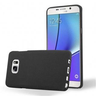 Cadorabo Hülle für Samsung Galaxy NOTE 5 in FROST SCHWARZ - Handyhülle aus flexiblem TPU Silikon - Silikonhülle Schutzhülle Ultra Slim Soft Back Cover Case Bumper