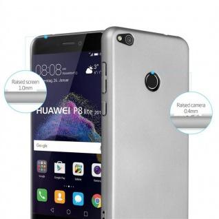 Cadorabo Hülle für Huawei P8 LITE 2017 in METALL SILBER ? Hardcase Handyhülle aus Plastik gegen Kratzer und Stöße ? Schutzhülle Bumper Ultra Slim Back Case Hard Cover - Vorschau 2