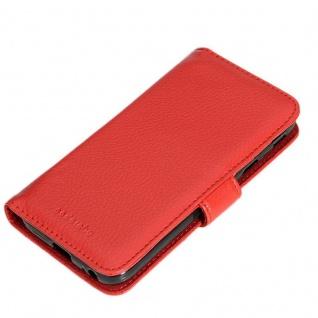Cadorabo Hülle für Samsung Galaxy J7 2017 in INFERNO ROT ? Handyhülle mit Magnetverschluss und 3 Kartenfächern ? Case Cover Schutzhülle Etui Tasche Book Klapp Style - Vorschau 4