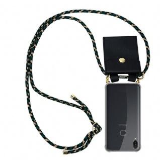 """"""" Cadorabo Handy Kette für Asus ZenFone Max PRO M1 (6"""" Zoll) in CAMOUFLAGE - Silikon Necklace Umhänge Hülle mit Gold Ringen, Kordel Band Schnur und abnehmbarem Etui ? Schutzhülle"""""""