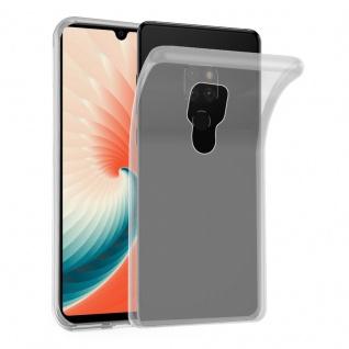 Cadorabo Hülle für Huawei MATE 20 in VOLL TRANSPARENT - Handyhülle aus flexiblem TPU Silikon - Silikonhülle Schutzhülle Ultra Slim Soft Back Cover Case Bumper