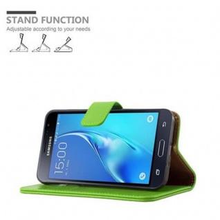 Cadorabo Hülle für Samsung Galaxy J3 2016 in GRAS GRÜN ? Handyhülle mit Magnetverschluss, Standfunktion und Kartenfach ? Case Cover Schutzhülle Etui Tasche Book Klapp Style - Vorschau 5