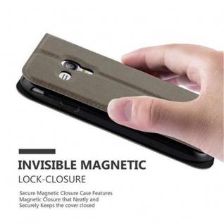Cadorabo Hülle für Samsung Galaxy S3 MINI in STEIN BRAUN - Handyhülle mit Magnetverschluss, Standfunktion und 2 Sichtfenstern - Case Cover Schutzhülle Etui Tasche Book Klapp Style - Vorschau 5