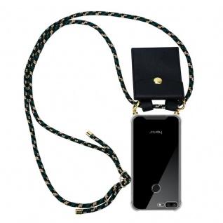 Cadorabo Handy Kette für Honor 9 LITE in CAMOUFLAGE Silikon Necklace Umhänge Hülle mit Gold Ringen, Kordel Band Schnur und abnehmbarem Etui Schutzhülle