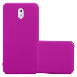 Cadorabo Hülle für Nokia 3 2017 in FROSTY PINK - Hardcase Handyhülle aus Plastik gegen Kratzer und Stöße - Schutzhülle Bumper Ultra Slim Back Case Hard Cover