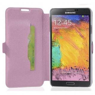 Cadorabo Hülle für Samsung Galaxy NOTE 3 - Hülle in ICY ROSE - Handyhülle mit Standfunktion und Kartenfach im Ultra Slim Design - Case Cover Schutzhülle Etui Tasche Book