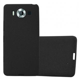 Cadorabo Hülle für Nokia Lumia 950 in FROST SCHWARZ - Handyhülle aus flexiblem TPU Silikon - Silikonhülle Schutzhülle Ultra Slim Soft Back Cover Case Bumper