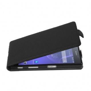 Cadorabo Hülle für Sony Xperia X in OXID SCHWARZ - Handyhülle im Flip Design aus strukturiertem Kunstleder - Case Cover Schutzhülle Etui Tasche Book Klapp Style