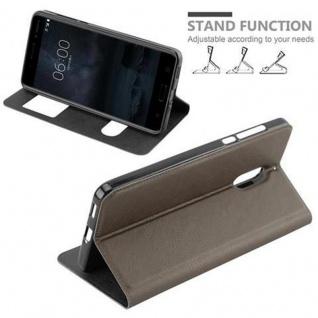 Cadorabo Hülle für Nokia 6 2017 in STEIN BRAUN - Handyhülle mit Magnetverschluss, Standfunktion und 2 Sichtfenstern - Case Cover Schutzhülle Etui Tasche Book Klapp Style - Vorschau 4