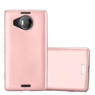 Cadorabo Hülle für Nokia Lumia 950 XL in METALLIC ROSÉ GOLD - Handyhülle aus flexiblem TPU Silikon - Silikonhülle Schutzhülle Ultra Slim Soft Back Cover Case Bumper