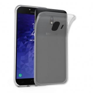 Cadorabo Hülle für Samsung Galaxy J4 2018 in VOLL TRANSPARENT - Handyhülle aus flexiblem TPU Silikon - Silikonhülle Schutzhülle Ultra Slim Soft Back Cover Case Bumper