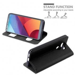 Cadorabo Hülle für LG G6 in KOMETEN SCHWARZ - Handyhülle mit Magnetverschluss, Standfunktion und 2 Sichtfenstern - Case Cover Schutzhülle Etui Tasche Book Klapp Style - Vorschau 5