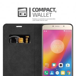 Cadorabo Hülle für Lenovo P2 in APFEL ROT Handyhülle mit Magnetverschluss, Standfunktion und Kartenfach Case Cover Schutzhülle Etui Tasche Book Klapp Style - Vorschau 5