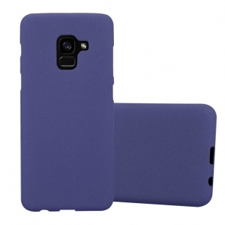 Cadorabo Hülle für Samsung Galaxy A8 2018 in FROST DUNKEL BLAU Handyhülle aus flexiblem TPU Silikon Silikonhülle Schutzhülle Ultra Slim Soft Back Cover Case Bumper